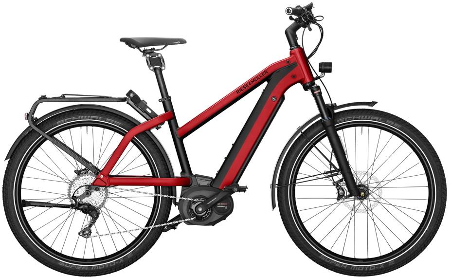 Riese & Muller Charger Mixte GT Touring, 500 Wh, 46cm, Red, Kiox