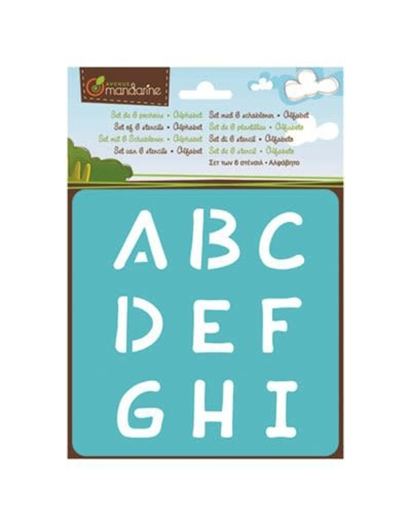 Lamarche 6 Pochoirs - Alphabet