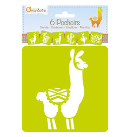 Lamarche 6 Pochoirs - Lama Cactus