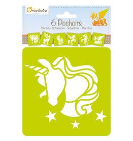 Lamarche 6 Pochoirs - Licorne