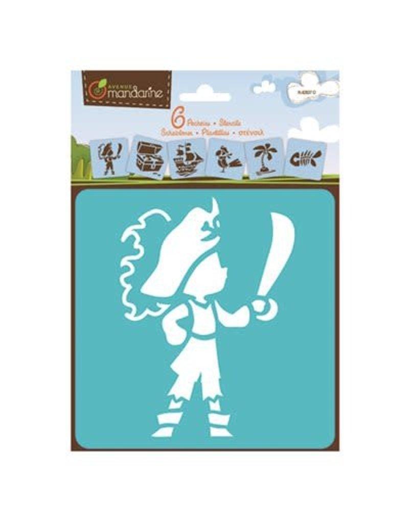Lamarche 6 Pochoirs - Pirates