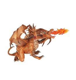 Papo Dragon deux têtes en or