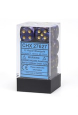 Chessex CHX27627 Dés 12 d6 16mm Scarab Bleu Royal