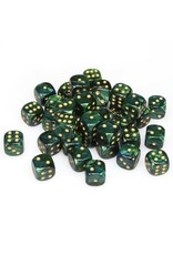 Chessex CHX27815 Dés 36 d6 12mm Scarab Jade
