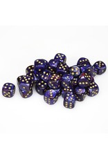 Chessex CHX27827 Dés 36 d6 12mm Scarab bleu royal