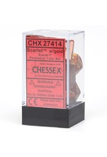 Chessex CHX27414 Dés Poly Scarab Scarlet