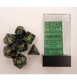 Chessex CHX27415 Dés Poly Scarab Jade