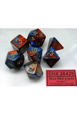 Chessex CHX26429 Dés Poly Gemini bleu rouge