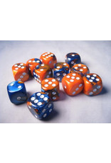Chessex CHX26652 Dés de 12 d6 16mm Gemini bleu orange