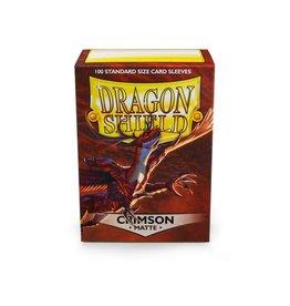 Dragon Shield Sleeves Matte Crimson 100 pack