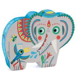 Djeco Puzzle silhouette - Éléphant d'Asie - 24 pcs
