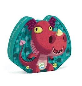 Djeco Puzzle silhouette - Edmond le dragon - 24 pcs