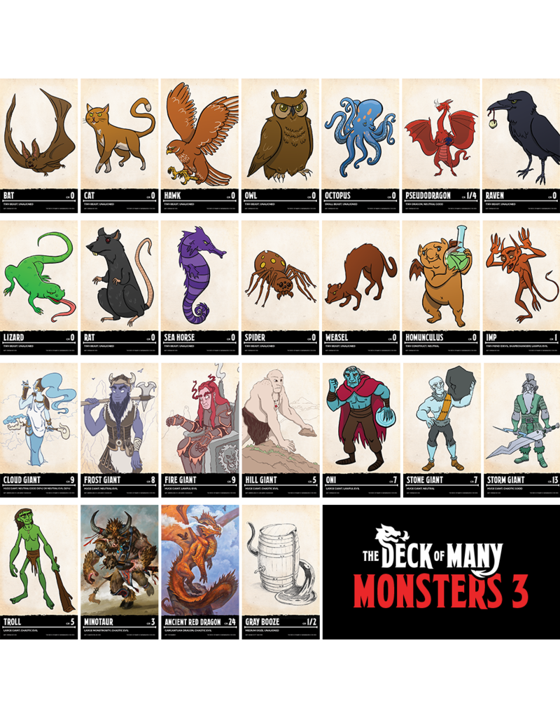 Deck of Many - Monsters 3 (EN)