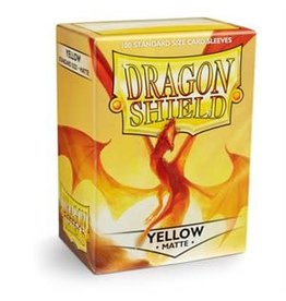 Dragon Shield Sleeves Matte Yellow 100 pack