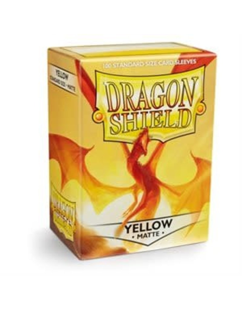 Dragon Shield Sleeves Matte Yellow 100 pack