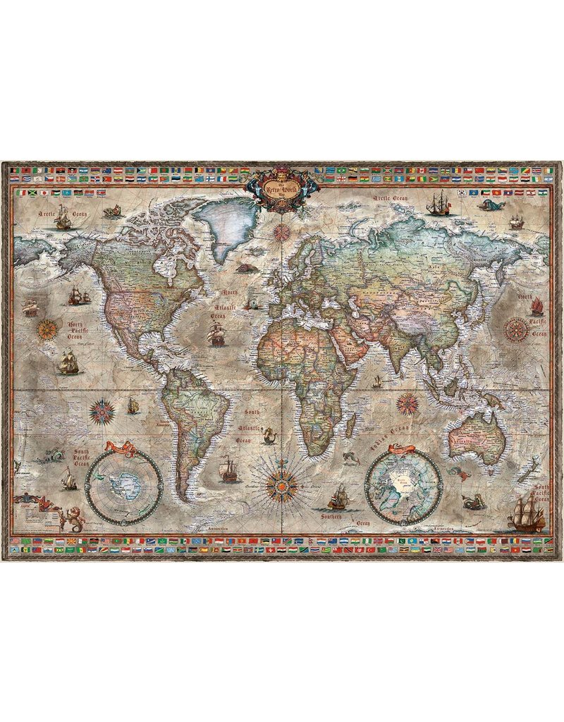 Heye 1000 pcs,Retro World