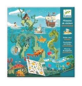 Djeco Histoires de stickers / Les aventures en mer