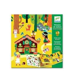 Djeco Histoires de stickers - La forêt magique