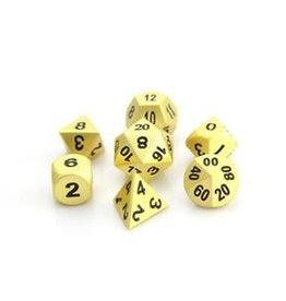 Die Hard Metal RPG Dice Set - Brilliant Gold