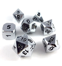 Die Hard Metal RPG Dice Set - Brilliant Silver