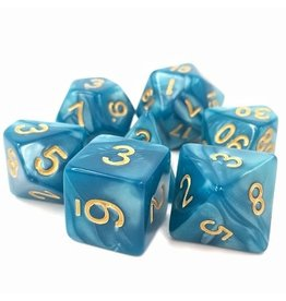 Tasty Minstrel Games (TMG) Dés TMG 16mm Opaque Blue Pearl Sleepy Sky