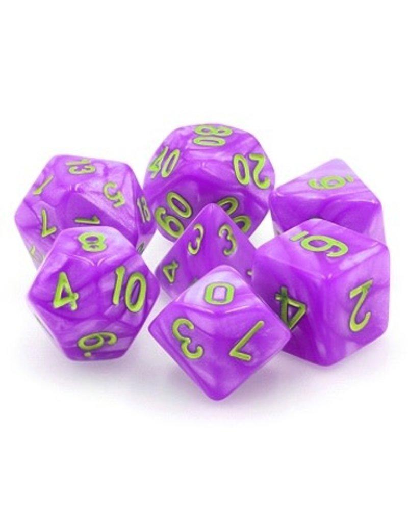 Tasty Minstrel Games (TMG) Dés TMG Opaque 16mm Purple Pearl Mana Miasma