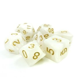 Tasty Minstrel Games (TMG) Dés TMG Opaque 16mm White Pearl Divine Light