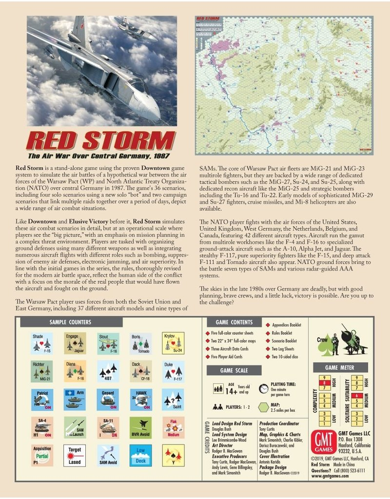GMT Red Storm - The Air War Over Central Germany, 1987 (EN)