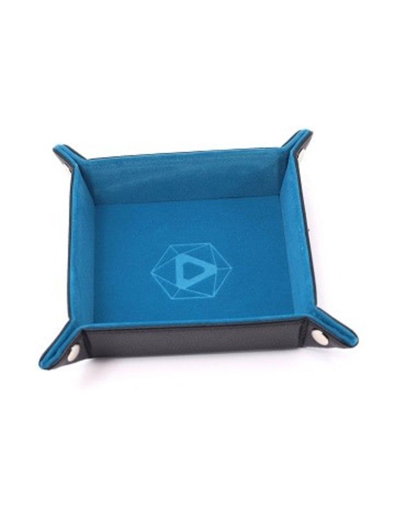 Die Hard Folding Square Tray w/ Teal Velvet