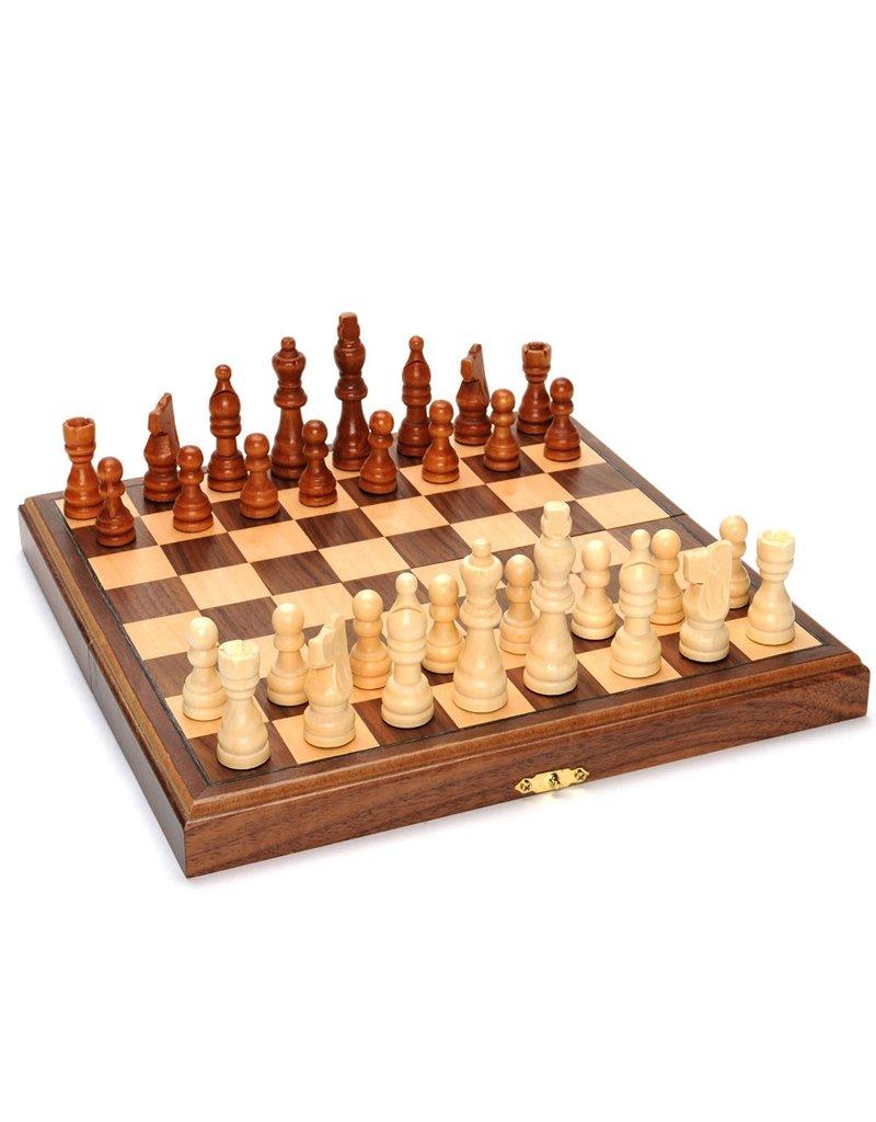 Wood Expressions Chess 11'' Wood Magnetic Folding Jeu d'échec bois