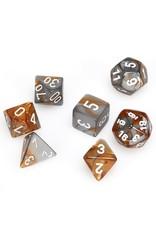 Chessex CHX26424 - Dés 7x  Gemini cuivre-acier avec chiffres blancs