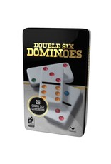 Spin Master Double 6 Color Domino (Black/Gold Tin) (EN)