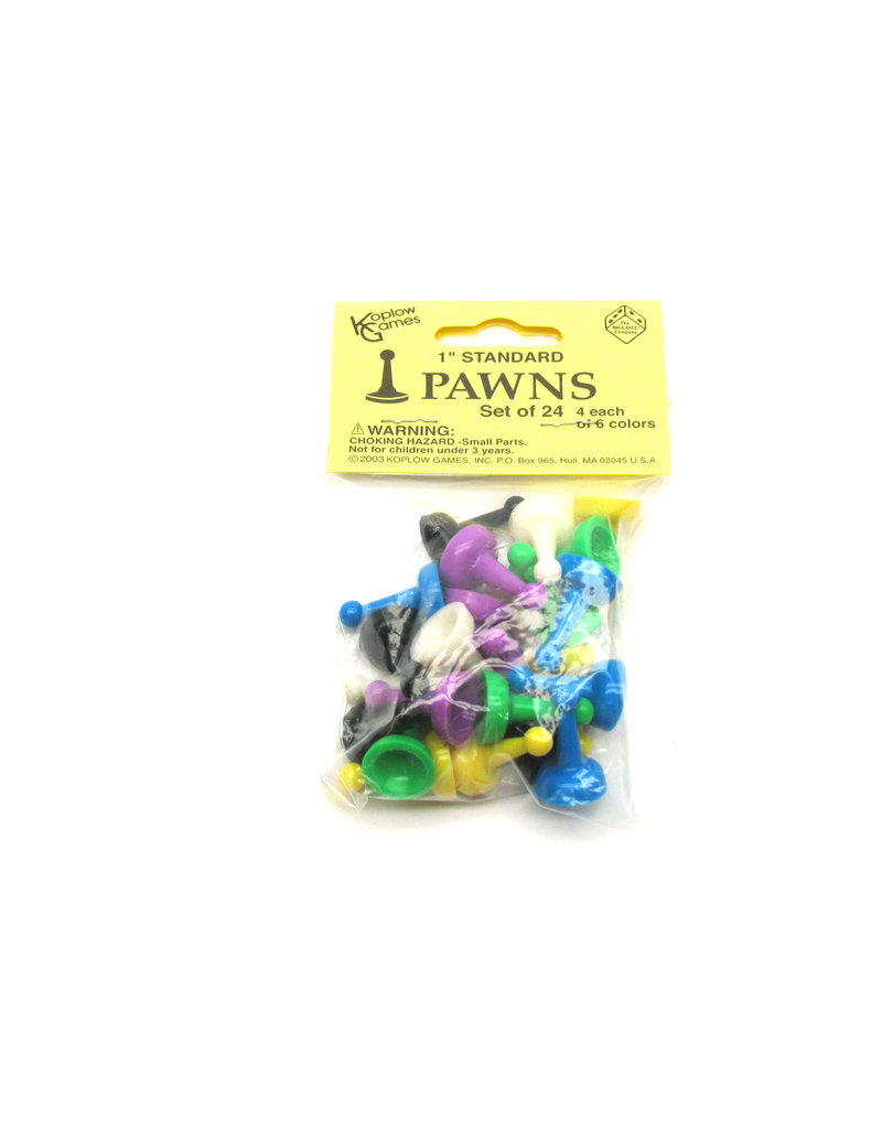 "Koplow games 24 1"" Pawns Assorted"