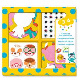Djeco Gommettes et Stickers / J'aime les animaux