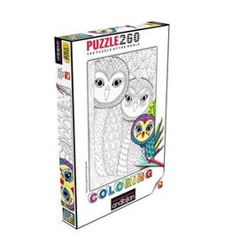 Anatolian Puzzle 260mcx Colouring Owls Family