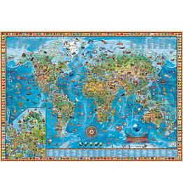 Heye Puzzle 2000mcx, Amazing World, Map Art - Carte du monde