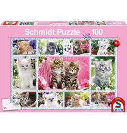 Schmidt-Spiele Puzzle 100mcx, Child Kittens - Chatons