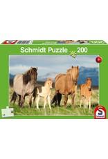 Schmidt-Spiele Puzzle 200mcx, Famille cheval / Child Family of Horses