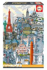 Educa Puzzle 200mcx, Paris, City Puzzle