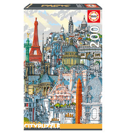Educa Puzzle 200mcx, Paris, City Puzzle