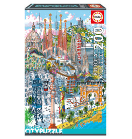 Educa Puzzle 200mcx, Barcelone, City Puzzle