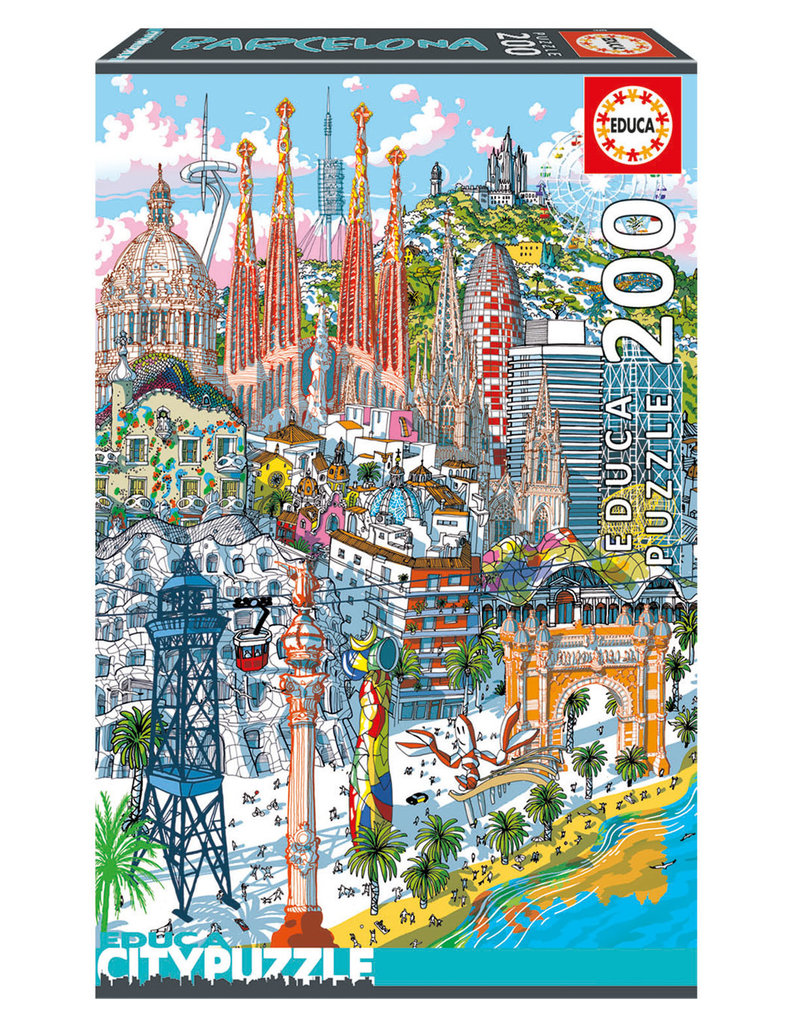 Educa Puzzle 200mcx, Barcelone, City Puzzle