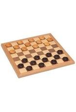 Wood Expressions Jeu de dames en bois 12'' - Wood Checker (FR/EN)