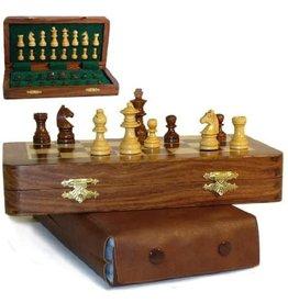 """World Wise Import Échec en bois 7"""" magnétique - Magnetic chess wood"""