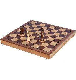 Wood Expressions Échec pliable en bois 11'' - Wood Chess set Folding book Oak