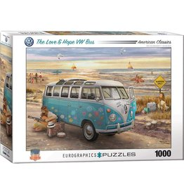 Eurographics Puzzle 1000mcx, The Love & Hope VW Bus