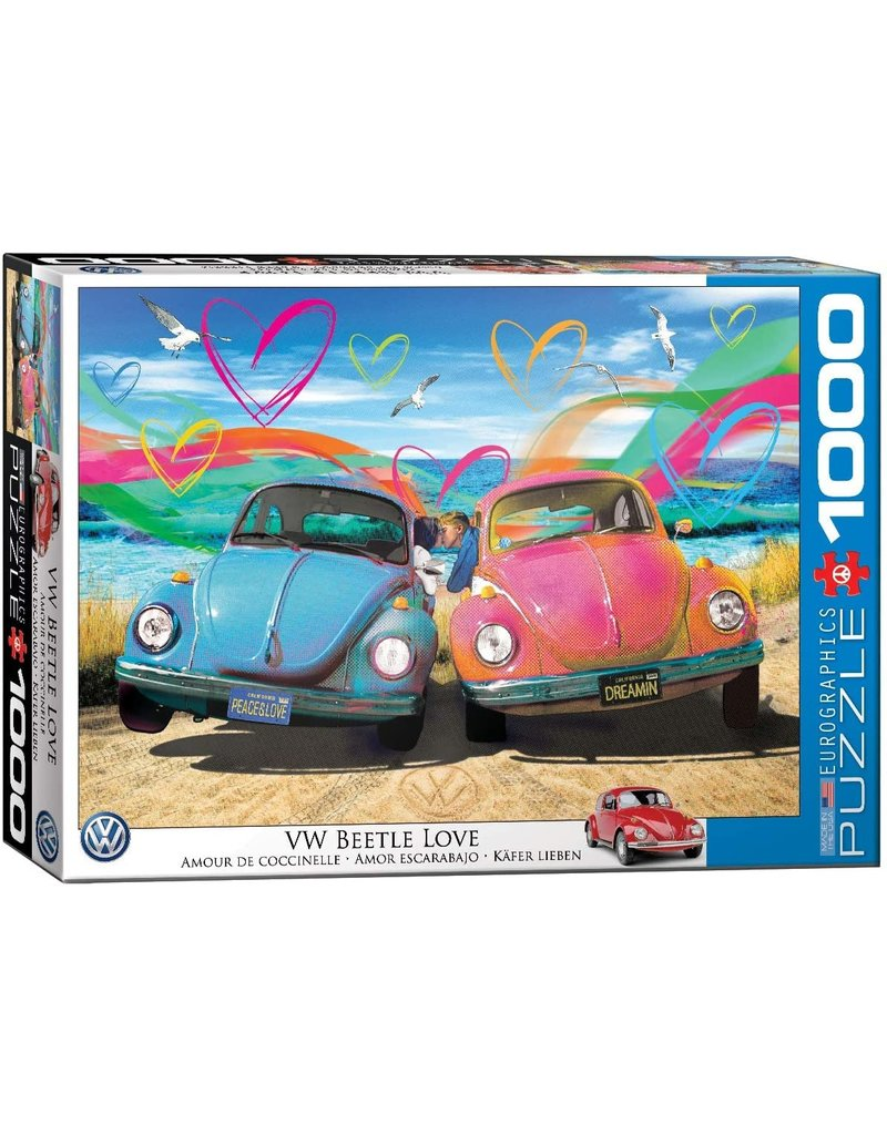 Eurographics Puzzle 1000mcx, VW Beetle Love