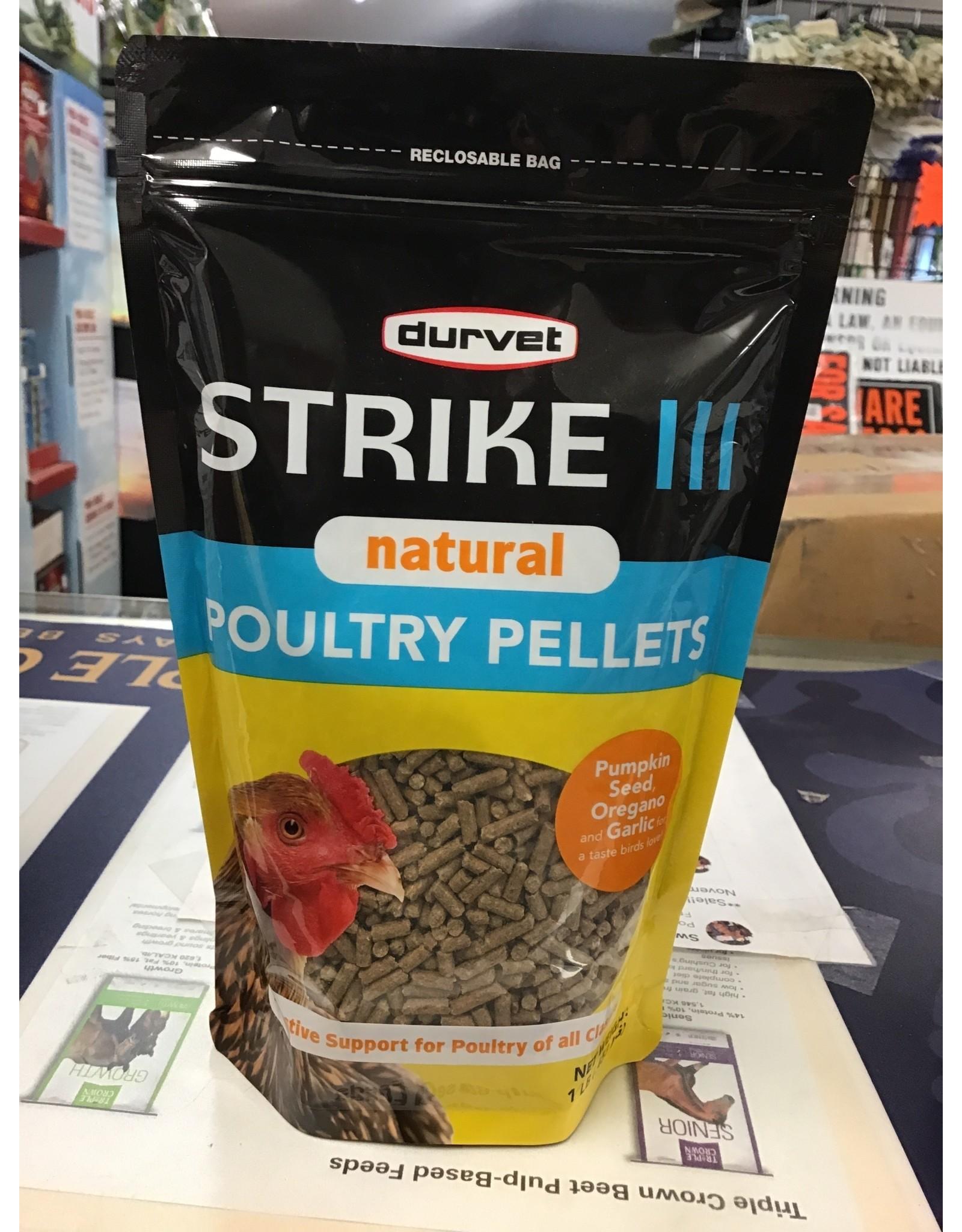 Durvet Strike III Natural Poultry Pellet