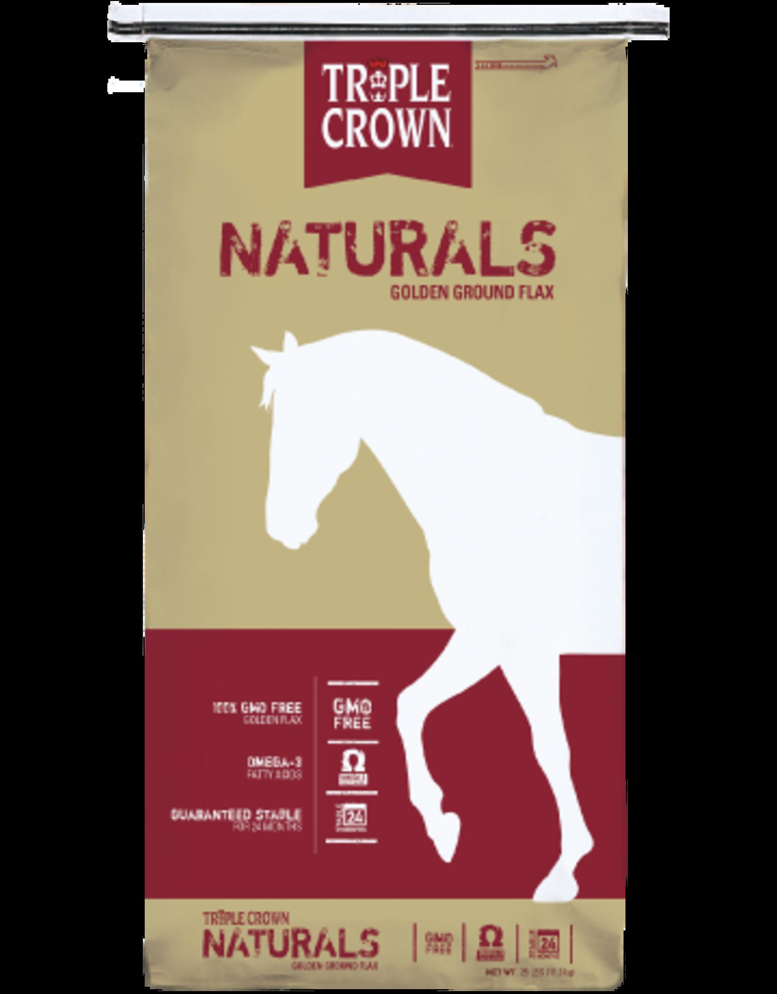 Triple Crown Triple Crown Naturals Golden Ground Flax  25#.       17/32/12
