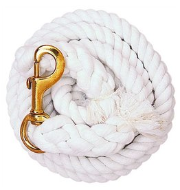 Lead Rope, Cotton 10' White